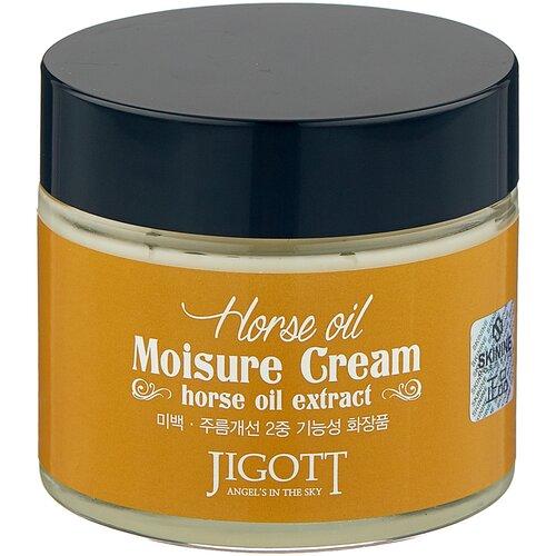Купить Jigott Horse Oil Moisure Cream Увлажняющий крем для лица с лошадиным маслом, 70 мл