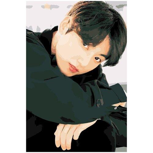 Купить Картина по номерам BTS JK Гук, 80 х 120 см, Красиво Красим, Картины по номерам и контурам