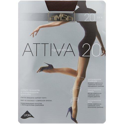Колготки Omsa Attiva, 20 den, размер 5-XL, marrone (коричневый) колготки omsa attiva 20 den размер 2 s marrone коричневый