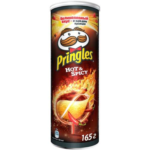 Чипсы Pringles картофельные Hot & Spicy, 165 г чипсы pringles картофельные spring onion 165 г