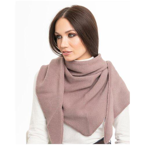 Женский теплый шарф-платок из шерсти, ТМ Reflexmaniya, цвет - темно-розовый.