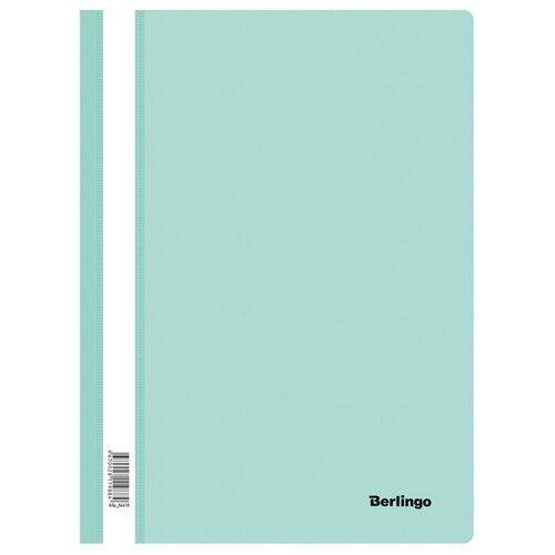 Папка-скоросшиватель пластик. Berlingo, А4, 180мкм, мятный с прозрачным верхом, упаковка 20 шт.