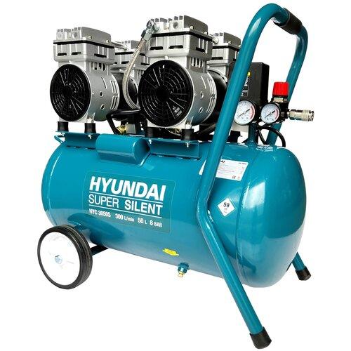 Фото - Компрессор безмасляный Hyundai HYC 3050S, 50 л, 2 кВт компрессор безмасляный hyundai hyc 3050s 50 л 2 квт