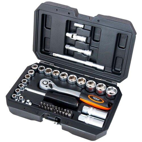 Набор инструментов AVSteel AV-011050, 50 предм., черный/оранжевый набор инструментов avsteel av 011056 56 предм черный оранжевый