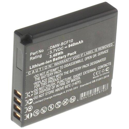 Фото - Аккумулятор iBatt iB-B1-F220 940mAh для Panasonic DMW-BCF10E, DMW-BCF10, CGA-S009, аккумулятор panasonic dmw blc12e для fz1000 fz300 g5 g6 gh2 fz200 gx8