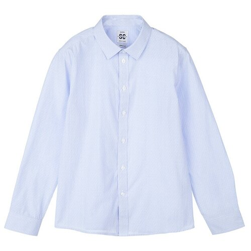 Рубашка playToday размер 152, голубой