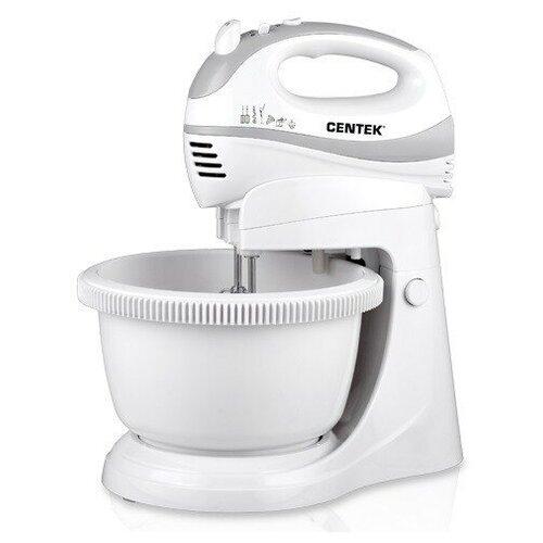 Миксер CENTEK CT-1106 чаша 3.5 л, белый/серый миксер centek ct 1106 белый серый