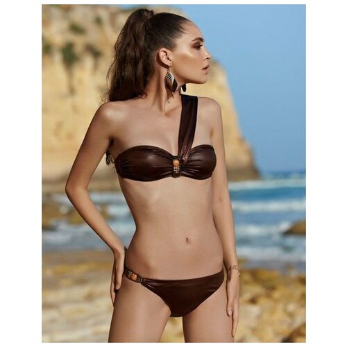 Paphia Оригинальный женский купальник-бандо, коричневый, 36