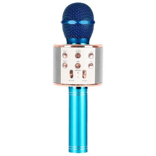 Беспроводной караоке-микрофон WS-858 (аквамарин)