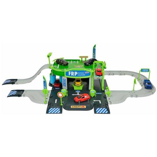 Купить Majorette Игровой набор Заправочная станция Creatix 2050010, Детские парковки и гаражи