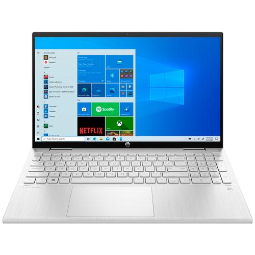 "Ноутбук HP PAVILION x360 15-er0006ur (Intel Core i5 1135G7/15.6""/1920x1080/16GB/512GB SSD/Intel Iris Xe Graphics/Windows 10 Home) 3B2W4EA естественный серебристый"