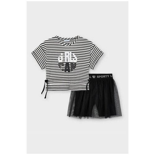 Комплект одежды Mayoral размер 5(110), черный/белый комплект одежды mayoral размер 110 белый красный
