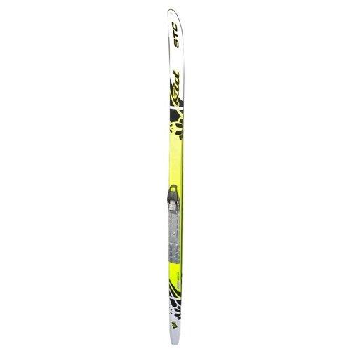 Фото - Беговые лыжи STC SNN Step Kid с креплениями желтый 110 см беговые лыжи stc step kid combi черный белый желтый 110 см