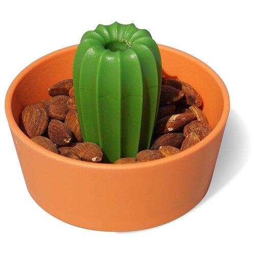 Миска для снеков cacnuts, оранжевая с зеленым