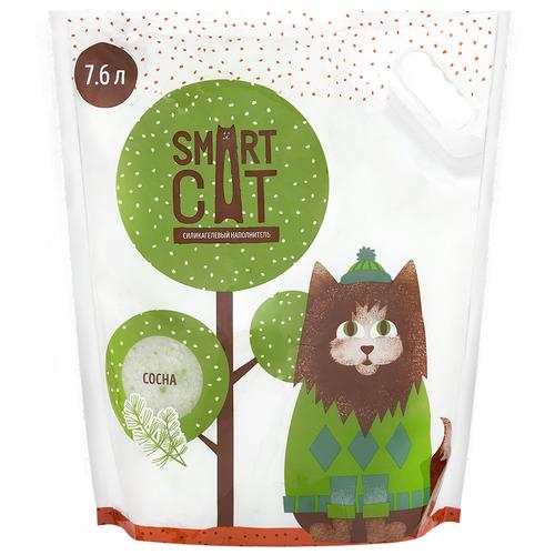 Фото - Впитывающий наполнитель Smart Cat Силикагелевый с ароматом сосны (7,6 л) 7.6 л впитывающий наполнитель for cats с ароматом зеленого чая 4 л