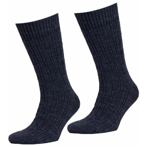 Мужские черные теплые шерстянные носки