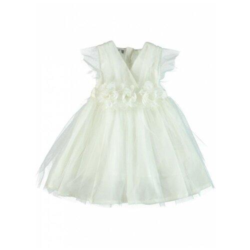 платье для девочки acoola pomelo цвет голубой 20220200368 400 размер 104 Праздничное платье для девочки Monna Rosa Роза экрю, размер 98-104