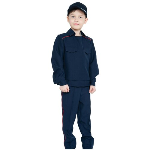 Костюм КарнавалOFF Полицейский ППС (5297), черный, размер 128-134
