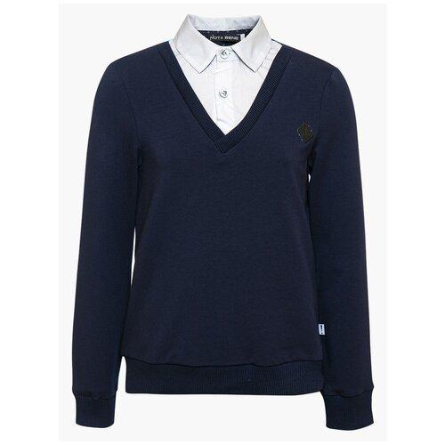 Купить Джемпер Nota Bene размер 122, темно-синий/белый, Свитеры и кардиганы