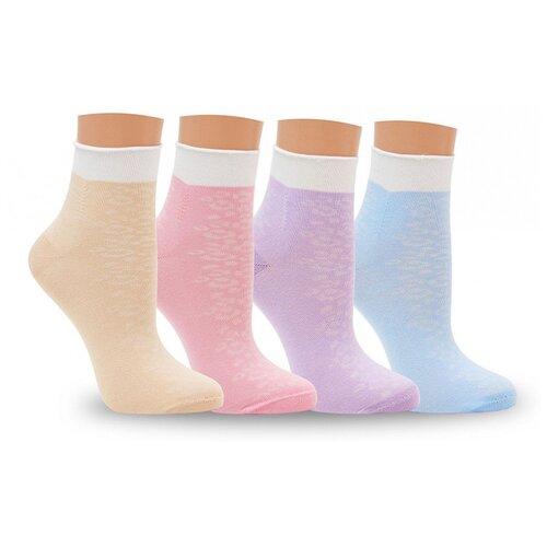 Носки женские LorenzLine Д116, 85% хлопка, Сиреневый, 23 (размер обуви 36-37)