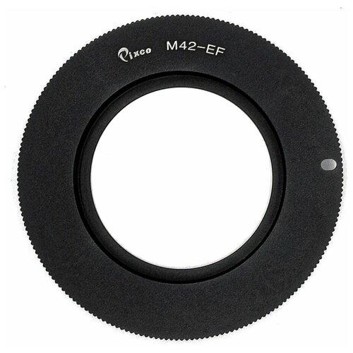 Фото - Переходник Pixco М42 Canon с чипом, для зеркальных камер Canon EOS, черный т кольцо bresser для камер canon eos m42