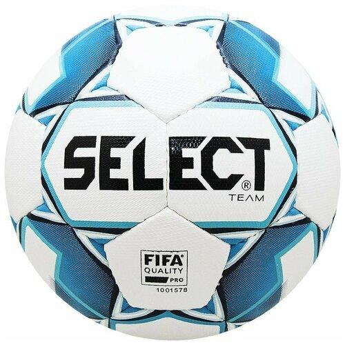 Мяч футб. SELECT Team FIFA арт. 815411-020, р.5, ДИЗ`19, FIFA PRO, 32 пан, гл.ПУ, руч.сш, бел-син мяч футб demix fifa quality р 5 2021 для газона 0 44гр белый s21edeat007 00
