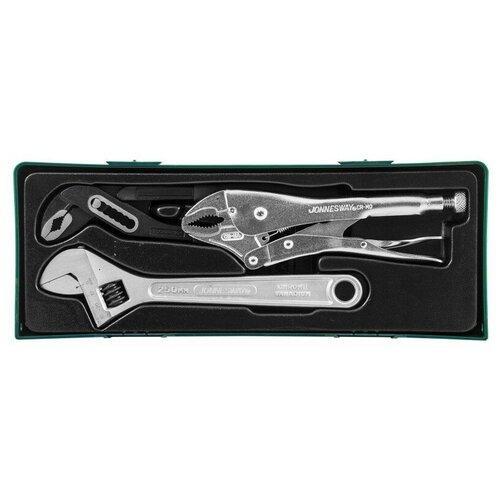 Фото - Набор шарнирно-губцевого инструмента JONNESWAY P2803ST (P2803SP), 3 предм., зеленый набор бит jonnesway s29h4115s 15 предм зеленый