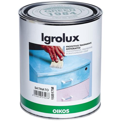 Лак Oikos Igrolux Satinato полиакриловый прозрачный 0.75 л