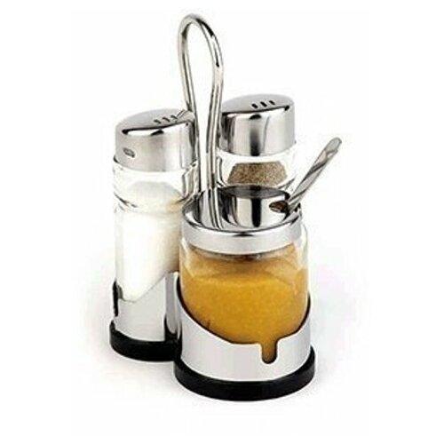 Фото - Набор для специй (соль,перец,горчичница) APS набор для специй tescoma club соль перец зубочистки салфетки арт 650332