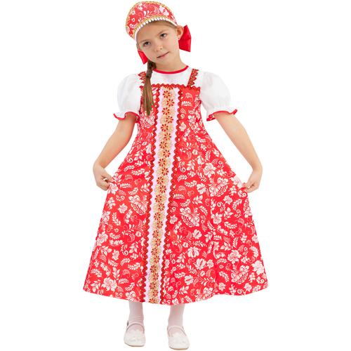 Купить Костюм пуговка Алёнка (1047 к-19), красный, размер 122, Карнавальные костюмы