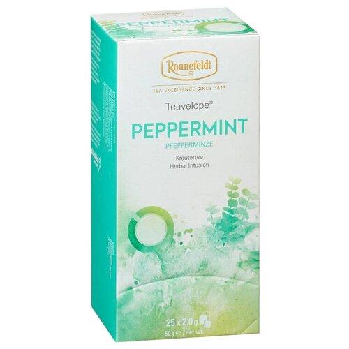 Чай травяной Ronnefeldt Teavelope Peppermint в пакетиках, 25 шт. чай зеленый ronnefeldt teavelope classic green в пакетиках 25 шт