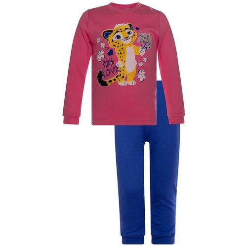 Фото - Комплект одежды Утенок размер 86, фуксия/василек Лео комплект одежды утенок размер 98 белый черный