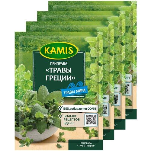 KAMIS Приправа Травы Греции, 4х10 г 4 шт. kamis приправа травы средиземноморья 4х10 г