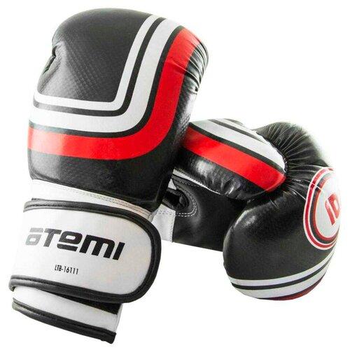 Боксерские перчатки ATEMI LTB-16111 размер S/M черный 6 oz