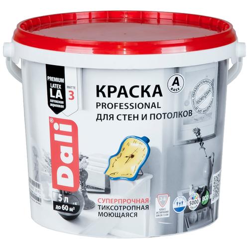 Фото - Краска акриловая DALI Professional для стен и потолков моющаяся глубокоматовая белый 5 л краска акриловая dali для кухни и ванной влагостойкая моющаяся матовая белый 5 л