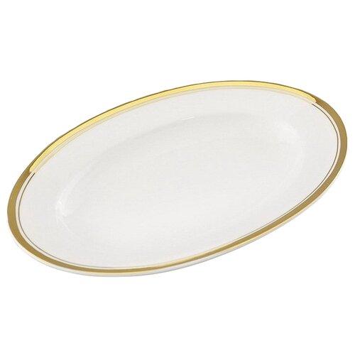 Фото - Блюдо для гарнира овальное Сабина Изящное золото, овальное, 22 см, Leander блюдо серверовочное овальное 400х255мм straight