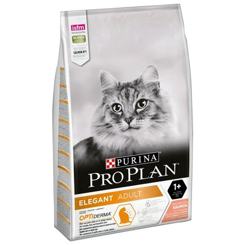 Корм сухой Pro Plan для кошек для поддерж крас шерсти, лосось, Пакет, 10кг