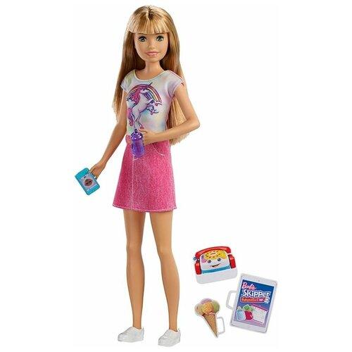 Фото - Кукла Barbie Няня Скиппер, 28 см, FXG91 кукла mattel barbie скиппер няня в клетчатой юбке с малышом и аксессуарами grp11