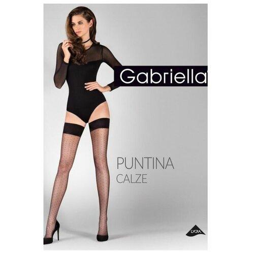 Чулки Gabriella Calze Puntina, размер 1/2, черный