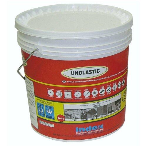 Суперэластичная гидроизоляция для бетона, дерева, метала, полистирола…. Unolastic (Уноластик) 10кг. INDEX