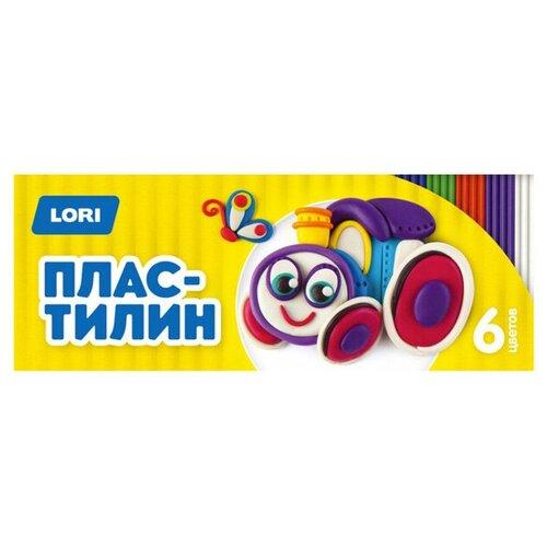 Пластилин LORI Детский, 6 цветов (Пл-016)