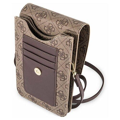 Сумка Guess Wallet Bag 4G для смартфонов, коричневый сумка guess сумка
