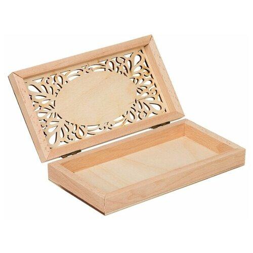 Купить Mr. Carving Заготовка для декорирования Купюрница с резной крышкой ВД-749 бежевый, Декоративные элементы и материалы