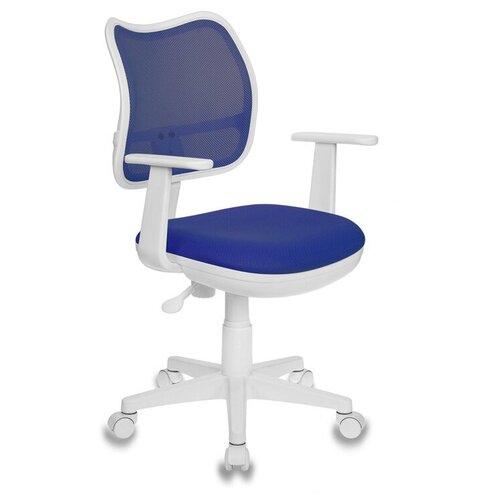 Компьютерное кресло Бюрократ CH-797 детское, обивка: текстиль, цвет: TW 10 синий компьютерное кресло бюрократ ch w797 abstract детское обивка текстиль цвет мультиколор абстракция