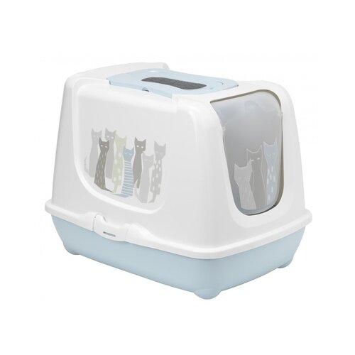 Moderna туалет-домик trendy cat с угольным фильтром и совком, 57,4х44,8х42,7 (maasai) mod-c245-0363-be41, 1,900 кг