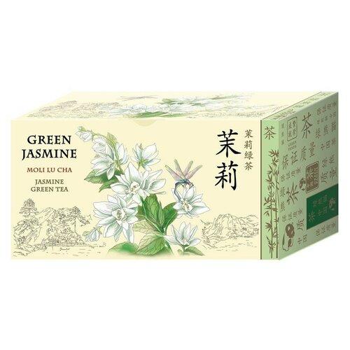Чай зеленый Green Panda Зеленый жасмин в пакетиках, 25 шт., 1 уп.
