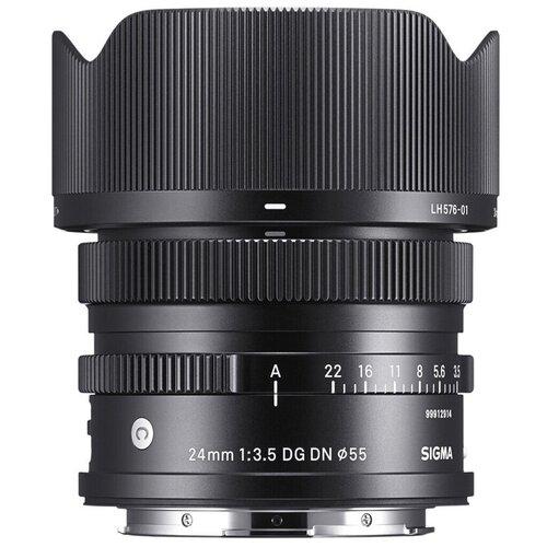 Фото - Объектив Sigma 24mm f/3.5 DG DN Contemporary L-Mount черный объектив sigma 35mm f 1 4 dg dn art l mount черный
