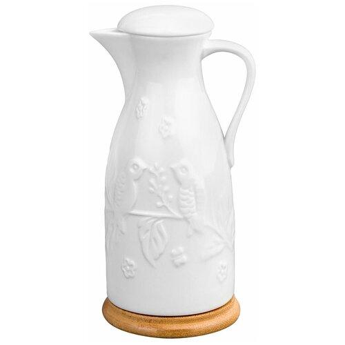Фото - Elan gallery Бутылка для масла и уксуса Птички на ветке 470 мл. белый чайная пара фарфоровая 2 предмета 360 мл elan gallery птички на ветке 2 штуки