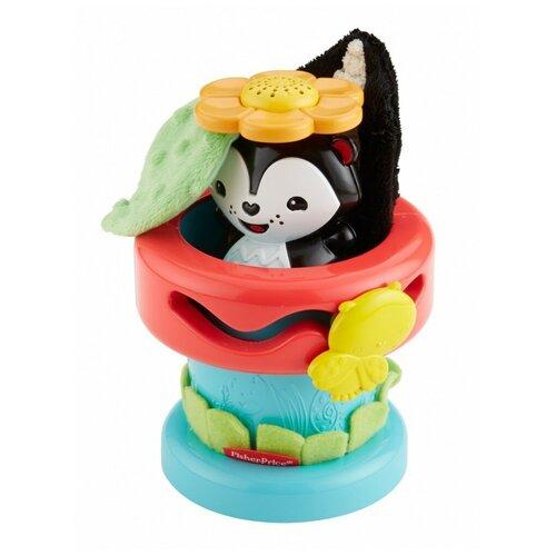 Фото - Развивающая игрушка Fisher-Price Цветочный горшок, черный/красный/голубой развивающая игрушка fisher price веселые ритмы бибо бибель fcw42