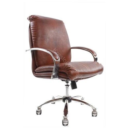 Кресло офисное Надир Хром низкая спинка